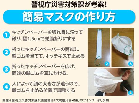 kanimask2 - キッチンペーパーで作る「簡易マスク」とは?咳エチケット情報も!