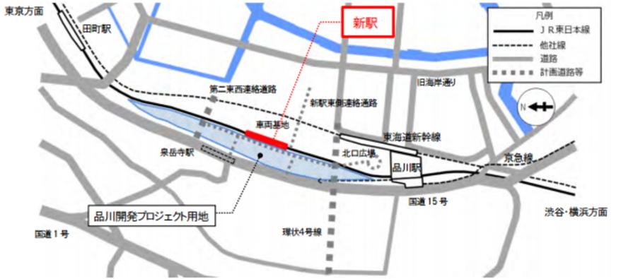 takanawagateway 4map - 高輪ゲートウェイ駅開業!場所は?デザインは?看板文字は明朝体?