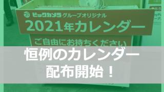 bic2021 eyecatch 320x180 - 【お急ぎ下さい!】ビックカメラG 2021年カレンダー配布開始!